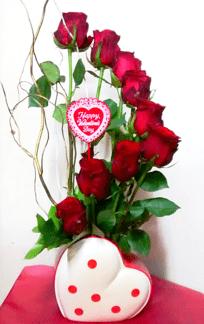 Red rose spiral flower Arrangementorder roses online flowers online flower shop TFS-min