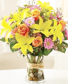yellow-lily-rose-orange-bouquet-little-flower-shop-florist-london-min-the-little-flower-shop-florist-london-clapham-brixton-flowers-online
