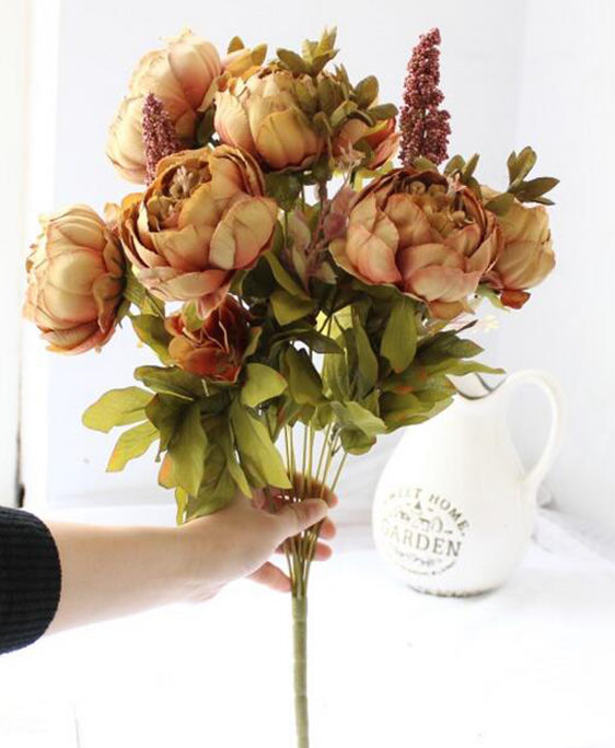 Artificial Vintage Peony Bouquet Artificial Flowers Vases Florist London