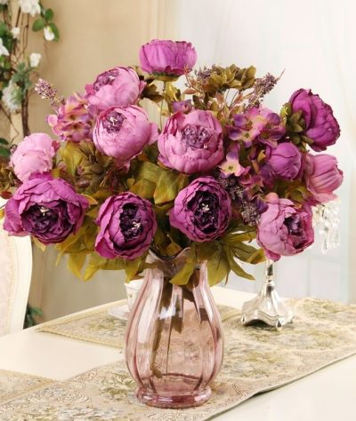 Artifical-flowers-peony-pink-peonies-fake-plants-artificial-the-little-flower-shop-florist-london-uk-delivery-faux-flowers-artificials-vintage-pink-artifical-bouquet-bouquet-2