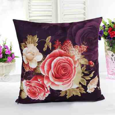 black-flower-flowers-black-cushion-gifts-florist-Linen Cushion Gift)
