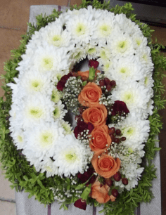 rose funeral letter wreath funeral wreath - funeral flowers online_flowers online_little flower shop_florist_funeral delivery TFS