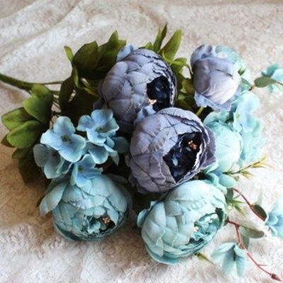Artifical-flowers-peony-pink-peonies-fake-plants-artificial-the-little-flower-shop-florist-london-uk-delivery-faux-flowers-artificials-vintage-blue-artifical-bouquet-blue-flowers-7