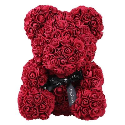 valentines-teddy-bear-flowers-flower-rose-teddy-bear-made-of-flowers-love-teddy-toy-rose-flowers-the-little-flower-shop-RED