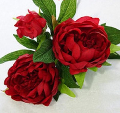 artificial peony, faux flowers-red-peony- 600px