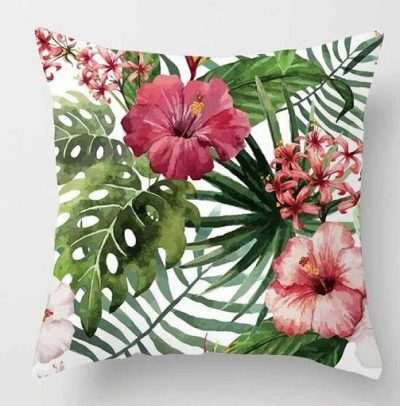 floral-foliage-cushion-the-little-flower-shop-florist-worldwide-gift-delivery-plant-shop-gift-shop-uk-homeware-cushion-45cm-45cm-bedroom-living-room-pillow-cushion-2-leaf-cushion-red-flower-pillow