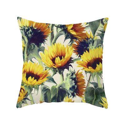 leaf-cushion range-the-little-flower-shop-gift-shop-london-leaf-style-foliage-plant-cushion-furniture-autumn-seasonal-palm-pattern-tropical-jungle-green-simple-minimal-sunflower