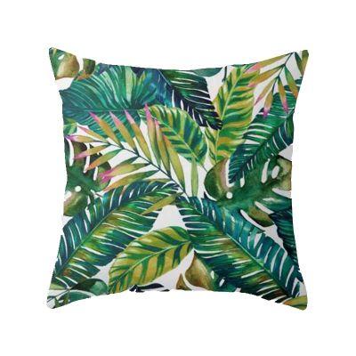 leaf-cushion range-the-little-flower-shop-gift-shop-london-leaf-style-foliage-plant-cushion-furniture-autumn-seasonal-palm-pattern-tropical-jungle-green