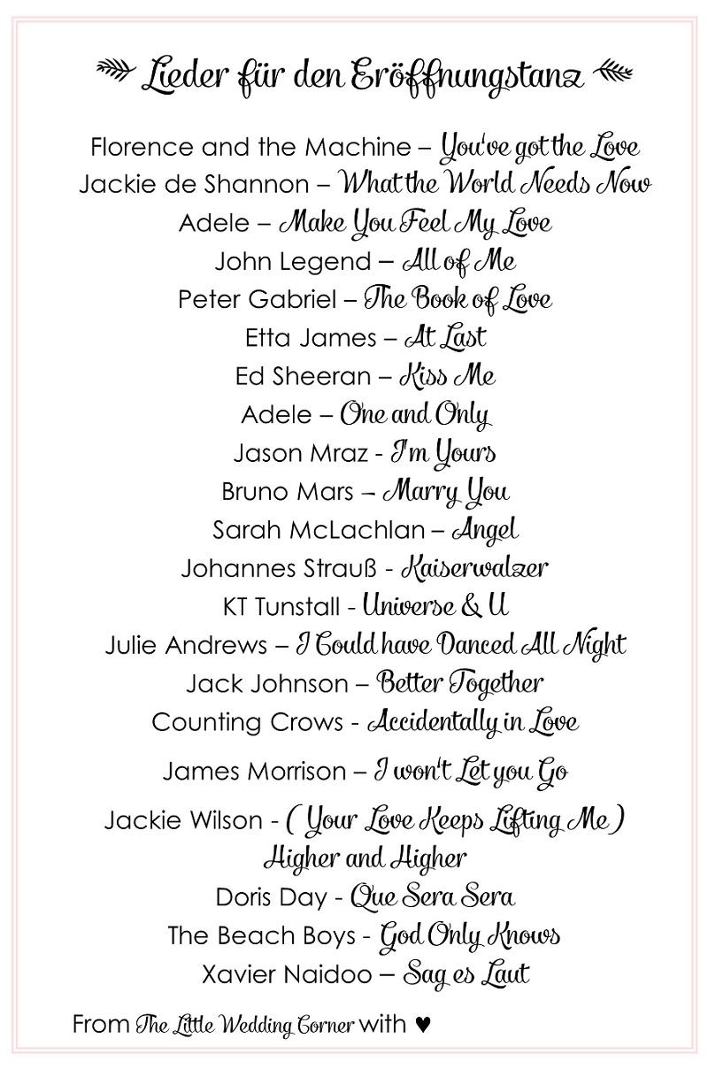 Die schnsten Hochzeitslieder 21 Lieder fr den