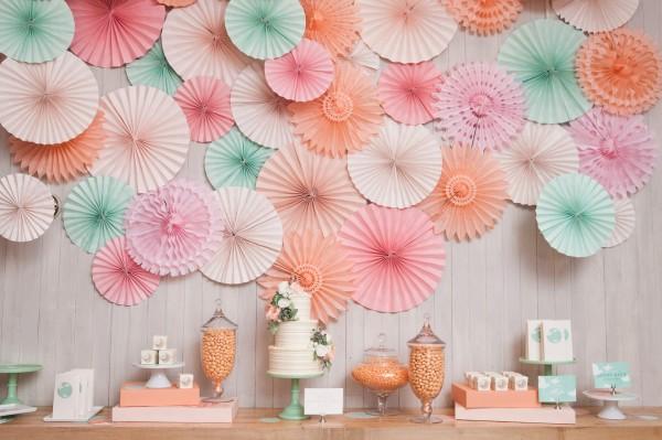 Pastell Palette Sommerhochzeit in mint pink und pfirsich