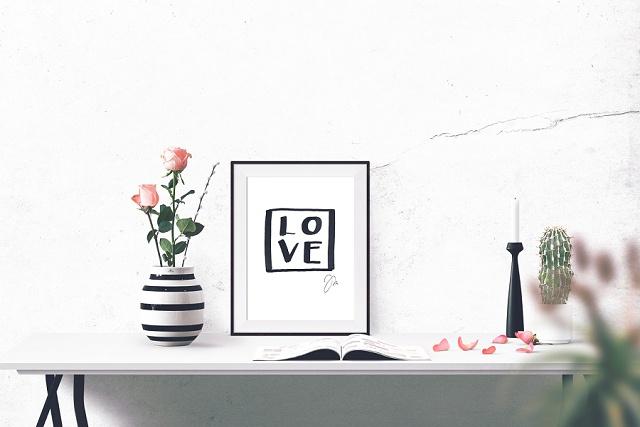 Gewinnt 1 x 3 Handlettering Prints rund um die Liebe und