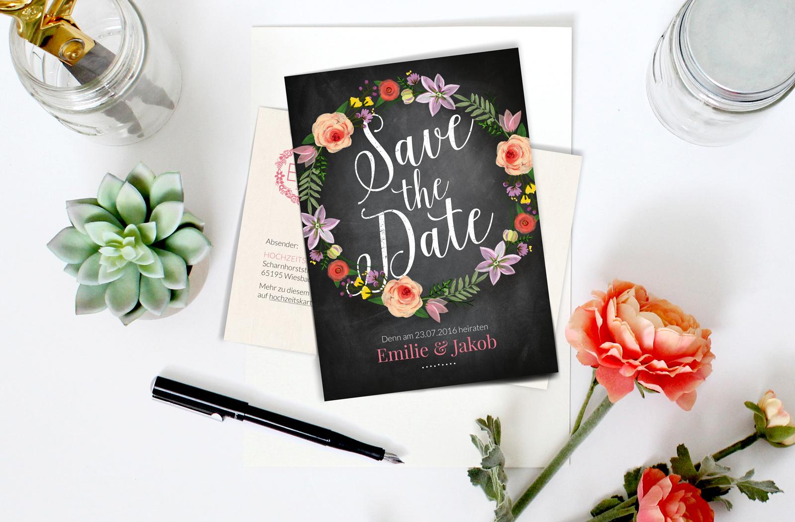 Individuelle Papeterie von Hochzeitskartendesign