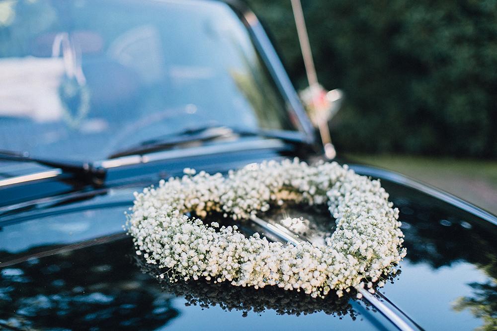 Auto Hochzeitsdeko
