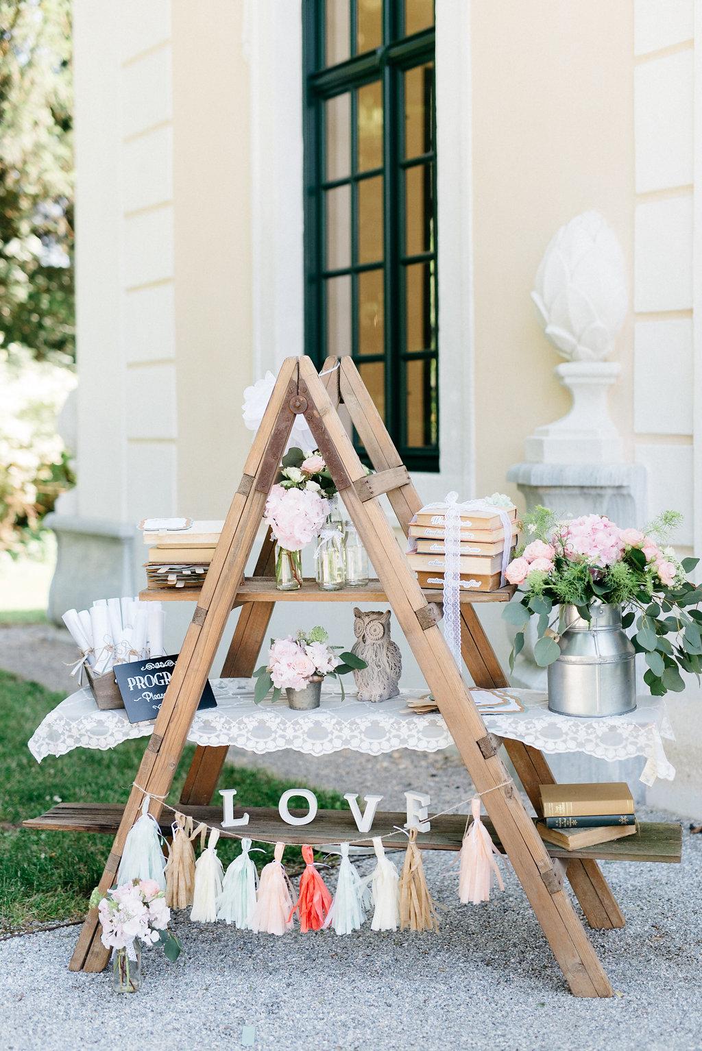Elegante Gartenhochzeit auf Schloss Grafenegg
