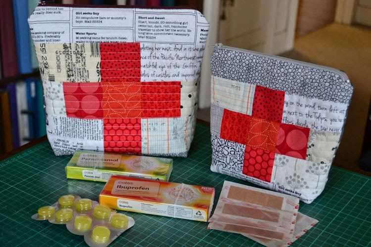 Finish Along Quarter 3 Tutorial Week – First Aid Pouch By Gemini Stitches