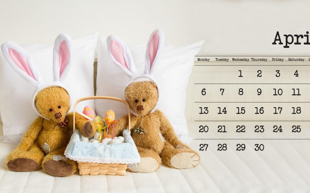 Work In Progress Wednesday + April Calendar Page