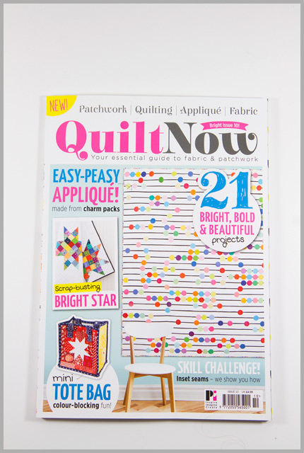Quilt Now Issue 10 – Brights & Whites Mini Tote
