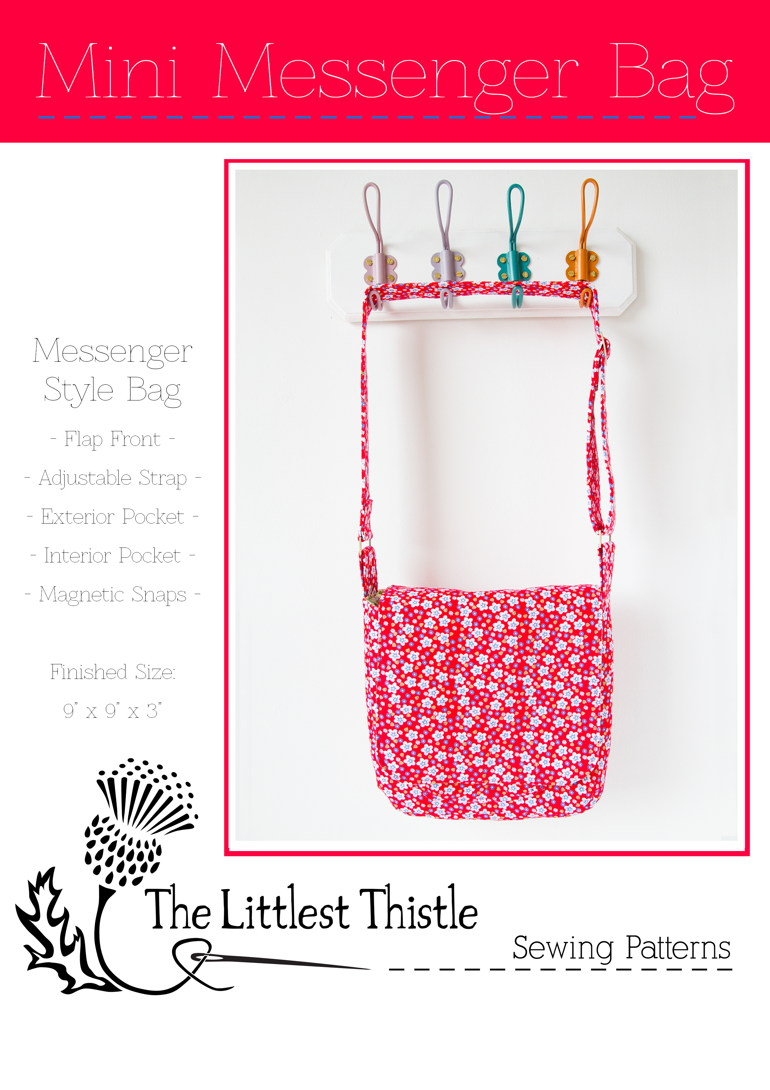 Mini Messenger Bag PDF Pattern | The Littlest Thistle