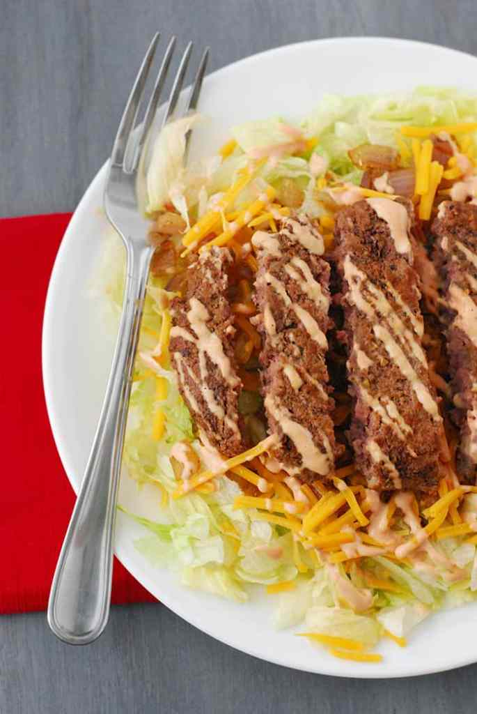 Cheeseburger Salad - the same flavor and ingredients you love just a little healthier and low carb friendly.
