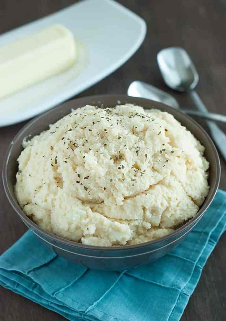Cauliflower Mashed Potatoes - You'll wonder why you ever ate regular mashed potatoes!