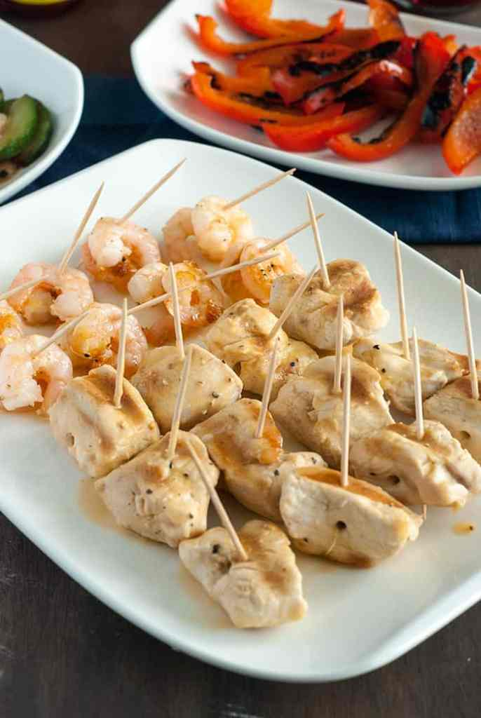 Low Carb Grilling with Chicken & Shrimp