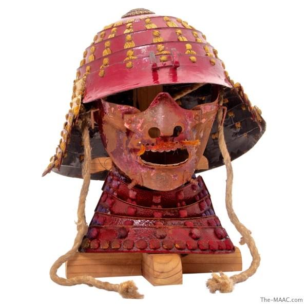 Steel Samurai Helmet & Mask - Manhattan Art And Antiques