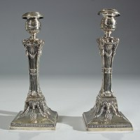 Antique Sterling Silver Candle Holders - Manhattan Art and ...