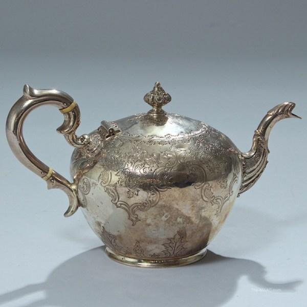 Antique Scottish Sterling Silver Teapot - Manhattan Art