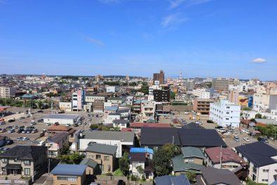【西側眺望】(現地11階相当から2016年9月に撮影)