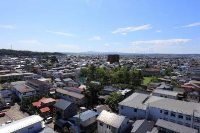【南側眺望】(現地11階相当から2016年9月に撮影)