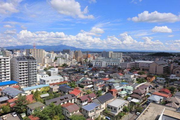 【駅側眺望】(現地14階相当から2016年9月に撮影)