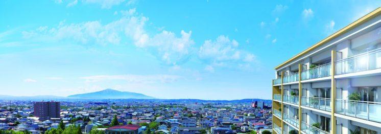 ザ・マークス南通 眺望 (鳥海山)