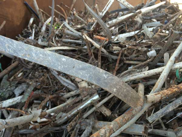 Metals recovered from Trommel Fines Treatment