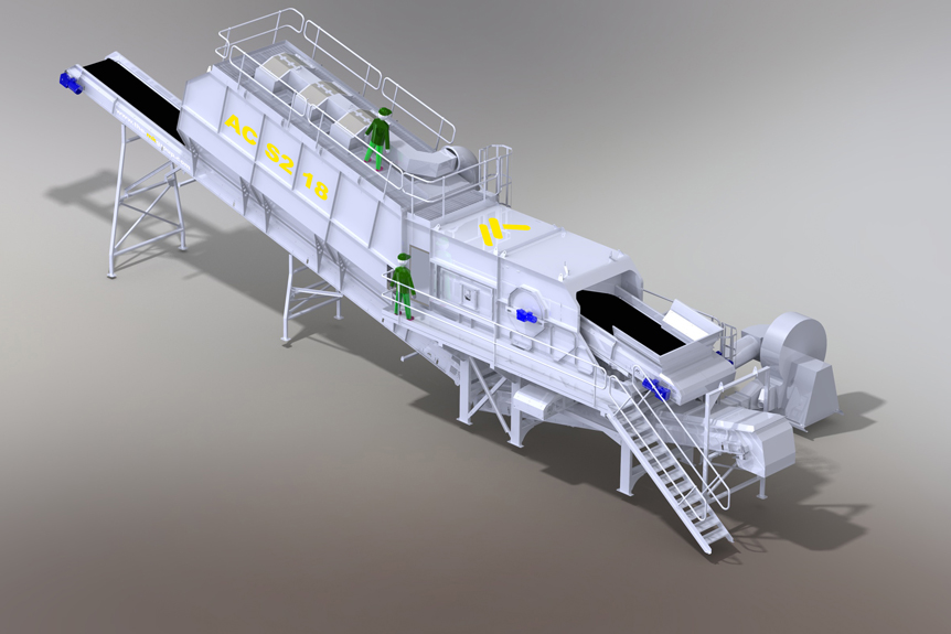 DoubleDrum Air Density Separator