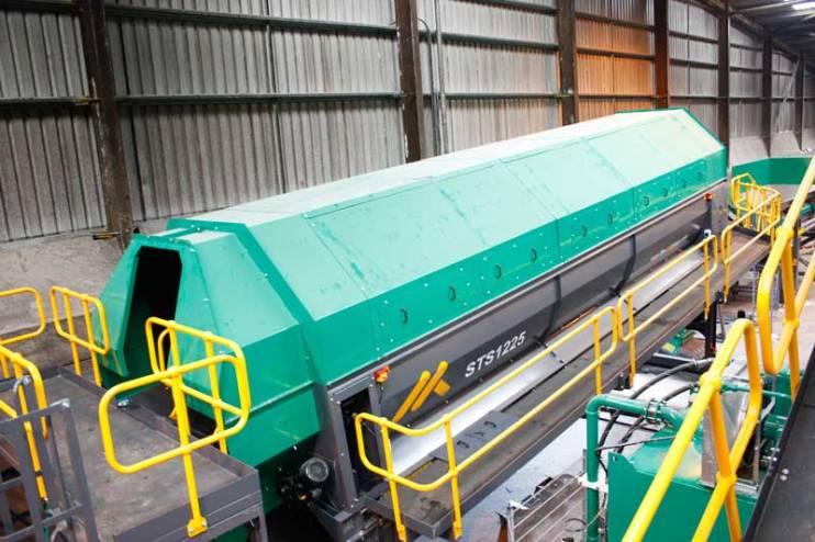 Trommel processing Refuse Derived Fuel (RDF) plant