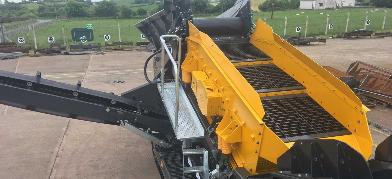 TSW125 Track Waste Screen with Flip Flow Deck