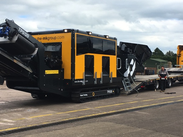 Cotswold Recycling Company Ltd take delivery of their first M&K TPS120 Track Picking Station