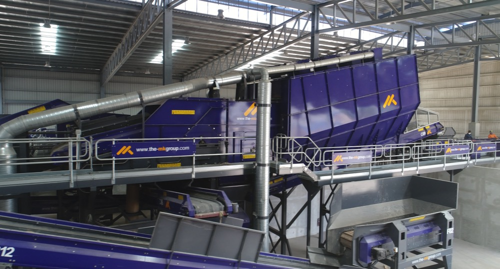 Double Drum Air Density Separator Side View