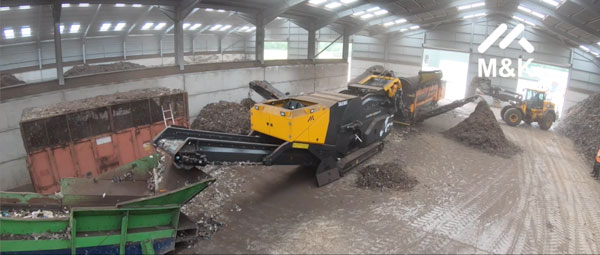 Mobile Track Air Density Separator Cleaning Compost