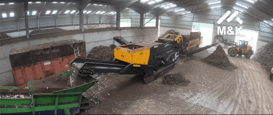 Track Air Separator Cleaning Plastic Contaminated Compost
