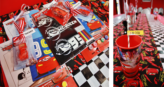 Lightning McQueen Birthday Party Decoration