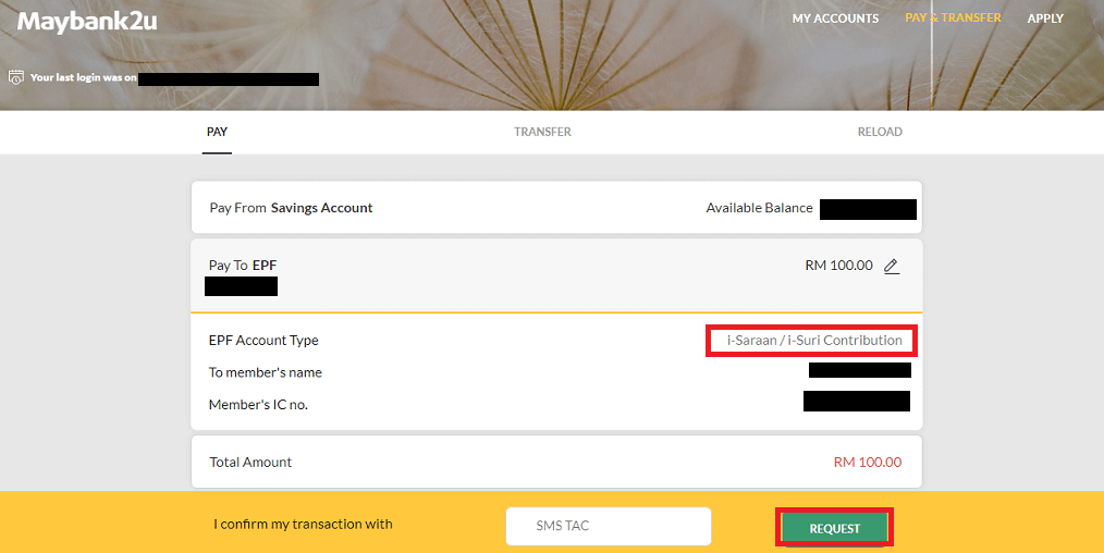 How To Pay Epf I Saraan Online Through Maybank The Money Magnet