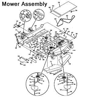 Grasshopper 9352 Front Mount Deck, 1995The Mower Shop, Inc.