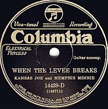 When the Levee Breaks original single cover