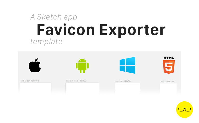 Sketch app Favicon Exporter template