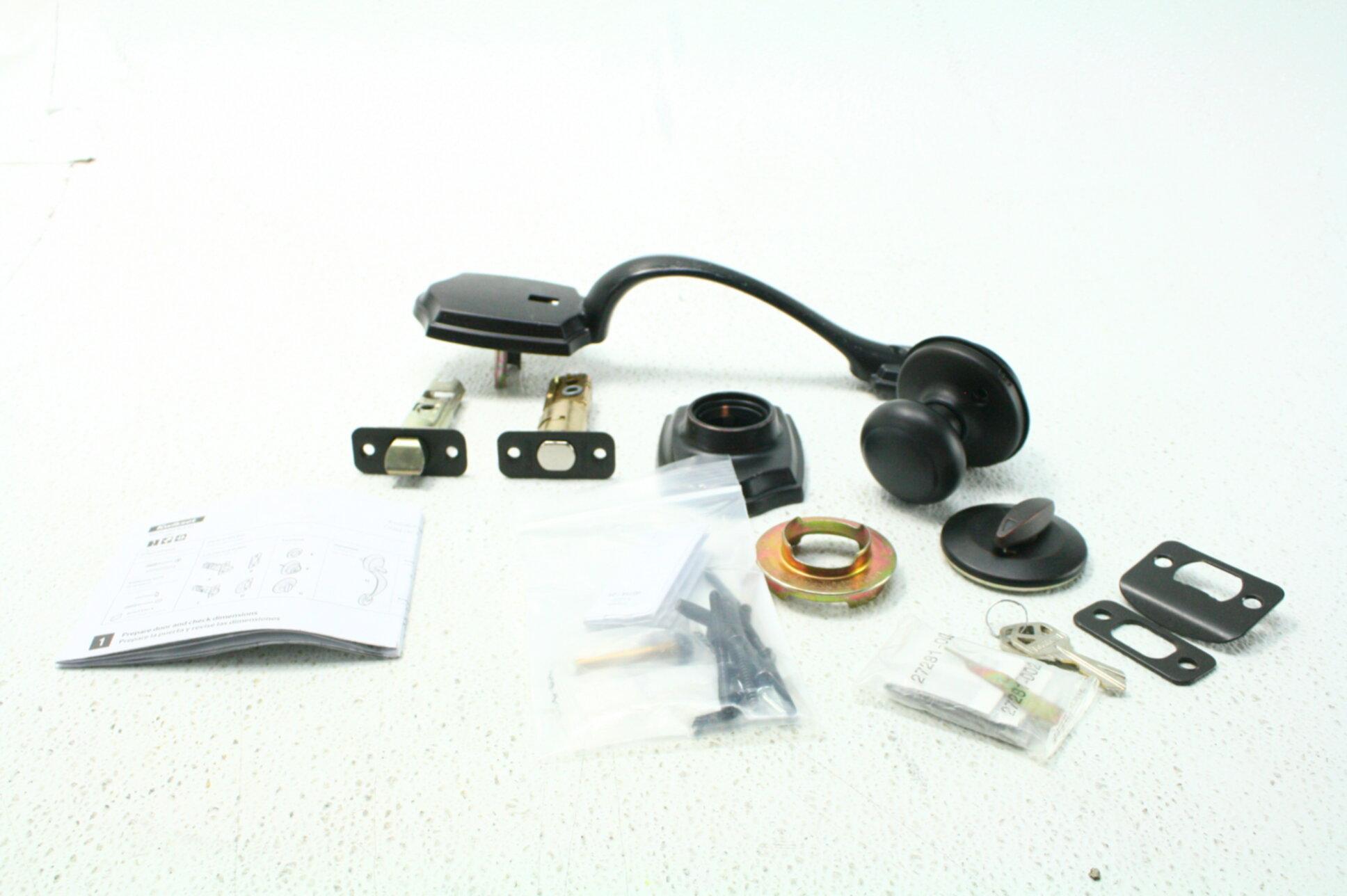 Kwikset 96870-100 Belleview Single Cylinder Handleset w