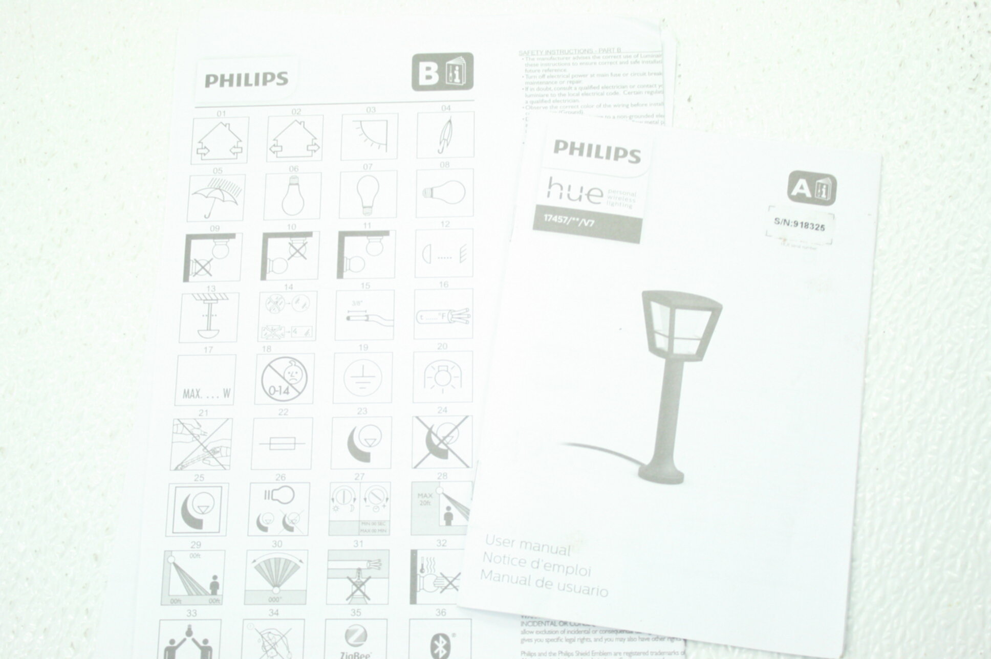 Philips 1745730V7 Hue White Color Ambiance Econic Outdoor