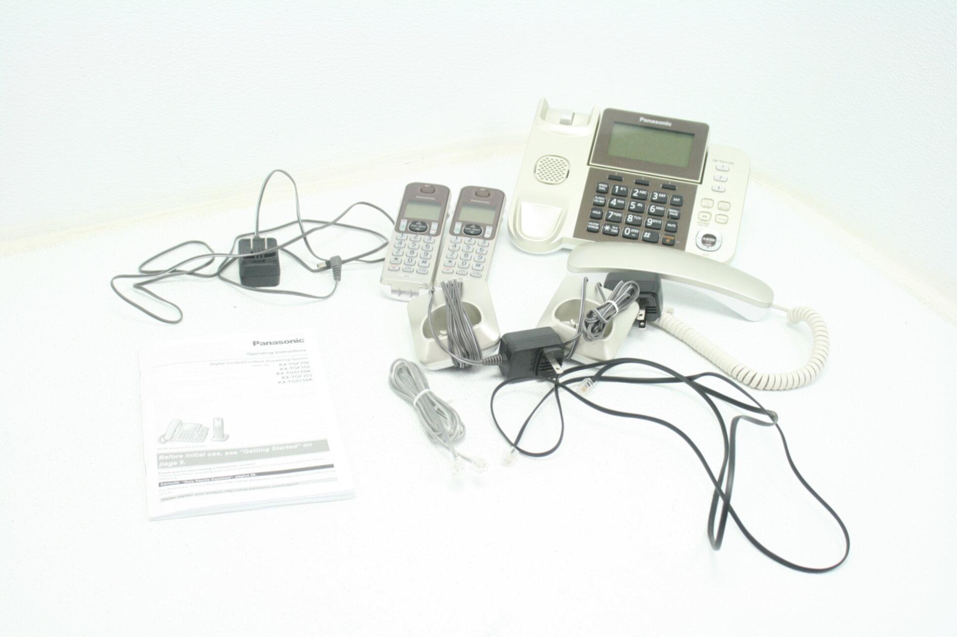 PANASONIC Corded Cordless Phone System w Answering Machine