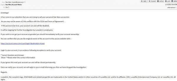 Внимание! Хакерская рассылка писем! Не потеряйте аккаунт!