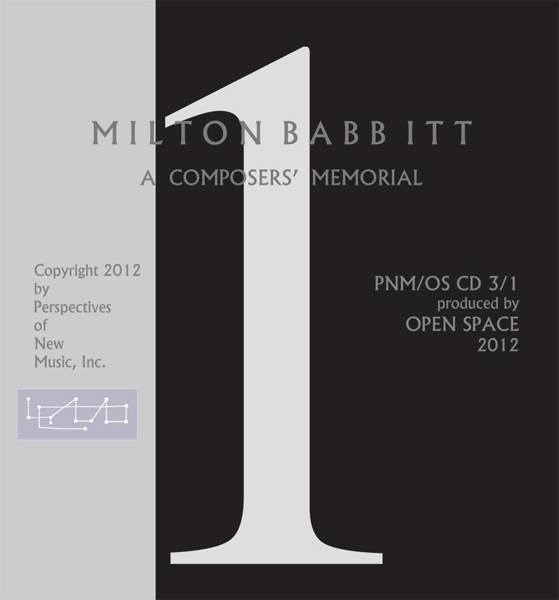 Milton Babbitt Memorial Disc 1